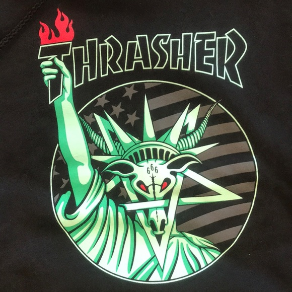 36206ab6f93f Thrasher Hoodie (Liberty Goat) BRAND NEW